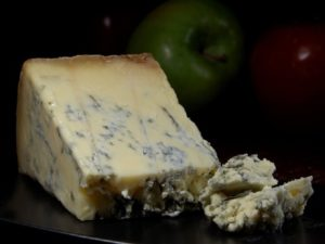A wedge of Stilton Blue Cheese
